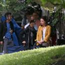 Katie Holmes – Filming 'The Gift' set in Montreal - 454 x 392