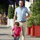 Jason Lee And Daughter Casper Shopping At American Rag