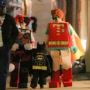 Jessica Biel and Justin Timberlake – Dress up as Lego Batman characters for Halloween in NY