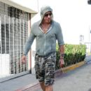 Mickey Rourke is spotted out for lunch at Cafe Roma in Beverly Hills, California on August 15, 2015