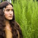 "Q'Orianka Kilcher as ""Pocahantas"" in New Line Cinema's upcoming film, The New World. The epic adventure is set amid the encounter of European and Native American cultures during the founding of the Jamestown Settlement in 1607. Pho"
