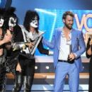 Kiss backstage at the 47th Annual Academy Of Country Music Awards held at the MGM Grand Garden Arena on April 1, 2012 in Las Vegas, Nevada - 454 x 299