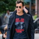 Justin Theroux seen out and about in New York City, New York on September 10, 2014