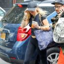 Miley Cyrus – Arriving at the recording studio in New York - 454 x 681