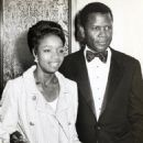 Sidney Poitier and Juanita Hardy