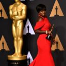 Actress Viola Davis, winner of the Best Supporting Actress award for 'Fences' poses in the press room during the 89th Annual Academy Awards at Hollywood & Highland Center on February 26, 2017 in Hollywood, California - 400 x 600