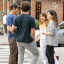 Keri Russell with Matthew Rhys – In tank top while out in Tribeca - 454 x 605