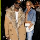 Amber Rose and Kanye West at the Dior Homme Fashion show during Paris Menswear Fashion Week at Palais Omnisports de Bercy in Paris, France - January 23, 2010
