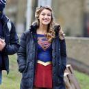 Melissa Benoist – Filming Supergirl in Vancouver 2/24/ 2017