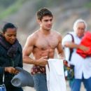 Zac Efron is seen on the set of 'We Are Your Friends' September 9, 2014