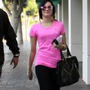Demi Lovato was spotted making her way around Los Angeles on Saturday (October 24).