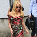 Pamela Anderson At ITV Studios In London