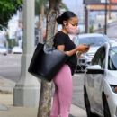 Skai Jackson – Heading out to her Uber in Los Angeles