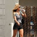 Audrina Patridge in Black Shorts – Out in Irvine - 454 x 675