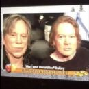Axl Rose and Mickey Rourke at boxing match in LA