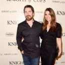 Christian Bale  and Sibi Blazic  : 'Knight of Cups'  Premiere - 384 x 600