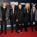 Def Leppard attend the 2019 Rock & Roll Hall Of Fame Induction Ceremony - Press Room at Barclays Center on March 29, 2019 in New York City - 454 x 310