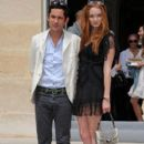 Lily Cole And Enrique Murciano - Christian Dior Paris Fashion Show F/W On July 5, 2010 - 406 x 610