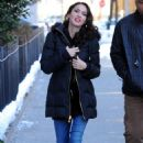 Megan Fox on the set of Friends With Kids filming in New York City, February 3, 2011