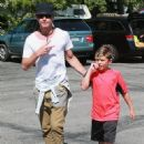 Gavin Rossdale takes his son Kingston to his soccer game in Sherman Oaks, California on April 12, 2015 - 452 x 600