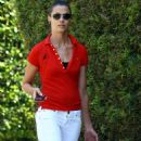 Bridget Moynahan With Takeout Food From Cafe Vida In Pacific Palisades, 2008-08-20