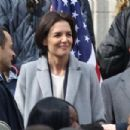 Katie Holmes – Filming a press conference scene for her new Untitled FBI/Fox project in Chicago - 454 x 303