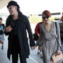 Shock Rocker Marilyn Manson At Lax With Girlfriend Lindsay Usich