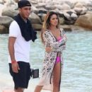 Jasmine V shoots a music video on the beach in Aruba for Dirty Dutch Electric Festival directed by Mario Gonsalves on September 8, 2014 - 416 x 594