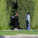 Rosie Huntington-Whiteley – Spotted in front of their Beverly Hills home