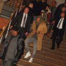 Chris Brown and Rihanna  at Adagio Nightclub- November 22, 2012