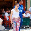 Jennifer Lopez in Leggings Out in New York City - 454 x 651