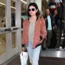 Lucy Hale – Arrives at LAX Airport in Los Angeles