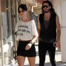 Katy Perry and Russell Brand were spotted out and about in Los Angeles yesterday afternoon (October 26).