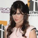 Zooey Deschanel was spotted attending the 13th Annual Hollywood Awards Gala last night (October 26).