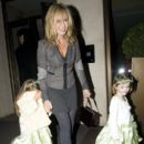 Amanda Holden Leaves the Mayfair Hotel