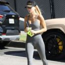 Hailey Bieber – Getting a Smoothie at Earthbar in West Hollywood