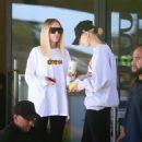 Hailey Bieber – Leaving Freds Beverly Hills Restaurant in Beverly Hills