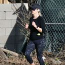 Reese Witherspoon in Leggings – Jogging in Brentwood
