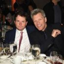 Michael J. Fox and musician Jon Bon Jovi attend the Food Bank For New York City Can Do Awards Dinner Gala at Cipriani Wall Street on April 21, 2015 in New York City.