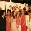 D.E.B.S. cast and crew: Angela Robinson, Meagan Good, Devon Aoki, Sara Foster, Jill Ritchie, Michael Clarke Duncan and Jordana Brewster.