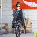 Vanessa Hudgens Leaving Intelligentsia Coffee In La