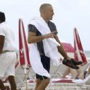 Georges St-Pierre enjoys a relaxing beach day in Miami, Florida on October 15, 2016