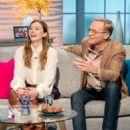 Elizabeth Olsen and Paul Bettany on 'Lorraine' TV show in London - 454 x 573