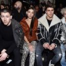 Nick Jonas attends the Balmain show as part of the Paris Fashion Week Womenswear Fall/Winter 2017/2018 on March 2, 2017 in Paris, France