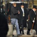 Robert Pattinson On Set of Bel Ami