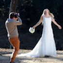 Brandi Glanville gives new meaning to the term 'blushing bride' as a series of  mishaps mar her bridal shoot - 454 x 425