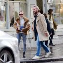 Kara Tointon with husband out in Notting Hill - 454 x 447