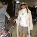 Geri Halliwell Arrives Back At Heathrow Airport In London, 2008-04-08