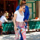 Jennifer Lopez in Leggings Out in New York City - 454 x 637