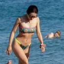Aurora Ramazzotti in Bikini on the beach on Mykonos Island - 454 x 681